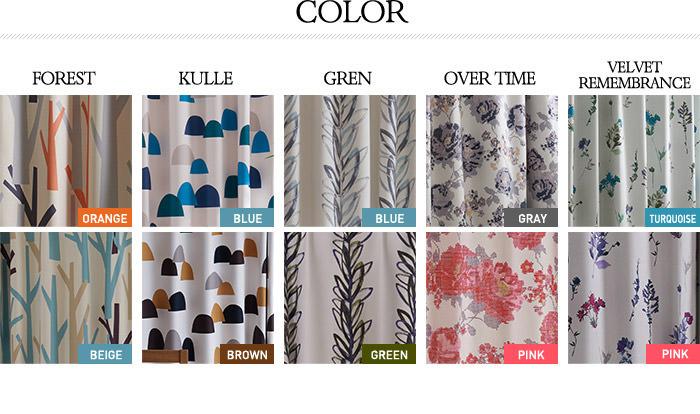 (保溫、 隔熱、 形狀記憶) 中-FA-LA 系列的設計窗簾遮光窗簾 2 板 100 × 110 釐米