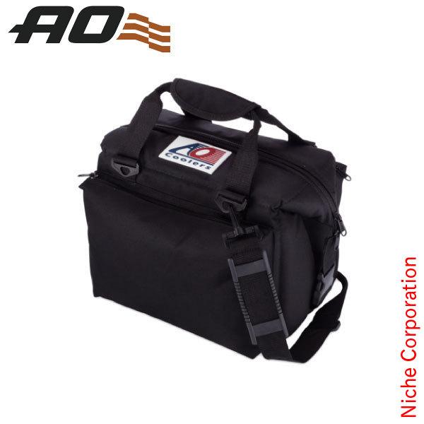 AOクーラーズ 12パック キャンバス ソフトクーラー デラックス ブラック AO12DXBK-BK キャンプ用品