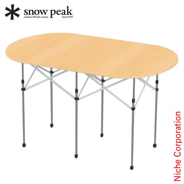 スノーピーク フォールディングテーブルオーバル竹 LV-231 キャンプ用品 デスク 新生活