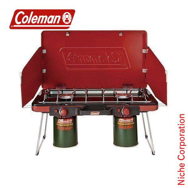 コールマン ( Coleman ) パワーハウス LP ツーバーナーストーブ2 ( レッド ) キャンプ バーナー OD缶 OD ツーバーナー