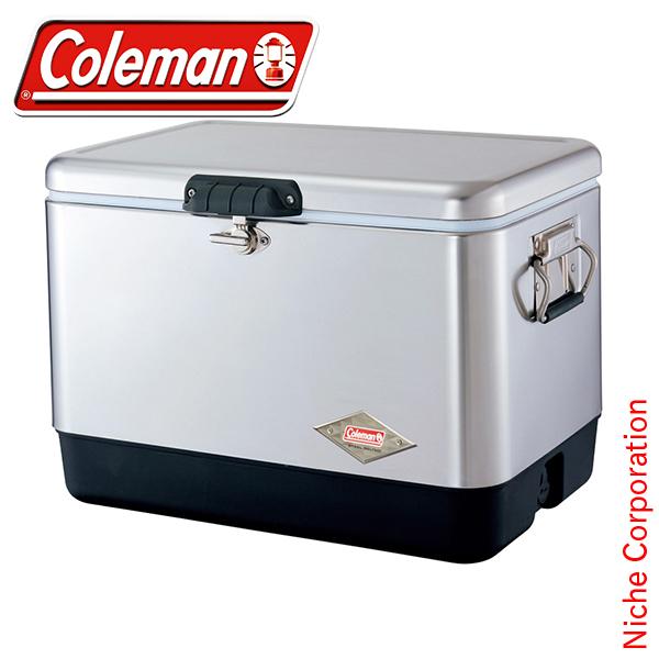 コールマン coleman 54QTスチールベルト クーラー(シルバー) 3000001343 スチールベルトクーラー 54qt クーラーボックス スチールベルト クーラーボックス 大容量 [P10] あす楽 キャンプ用品