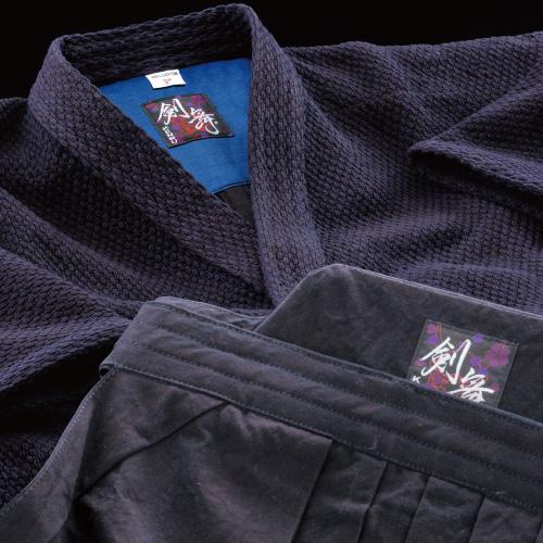 剣道着袴セット 剣舞<KENBU>正藍染二重剣道衣&正藍染10000番袴