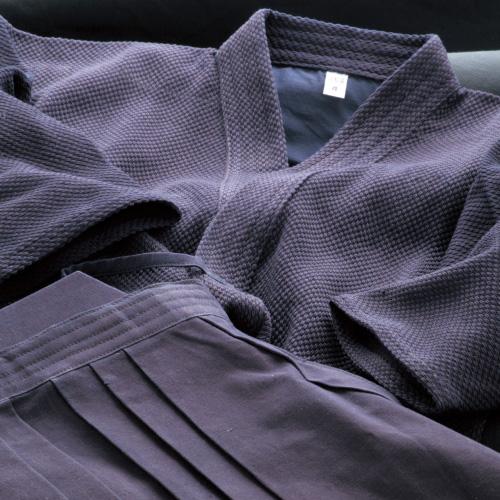 剣道着袴セット 正藍染一重剣道衣 & 正藍染8800番袴