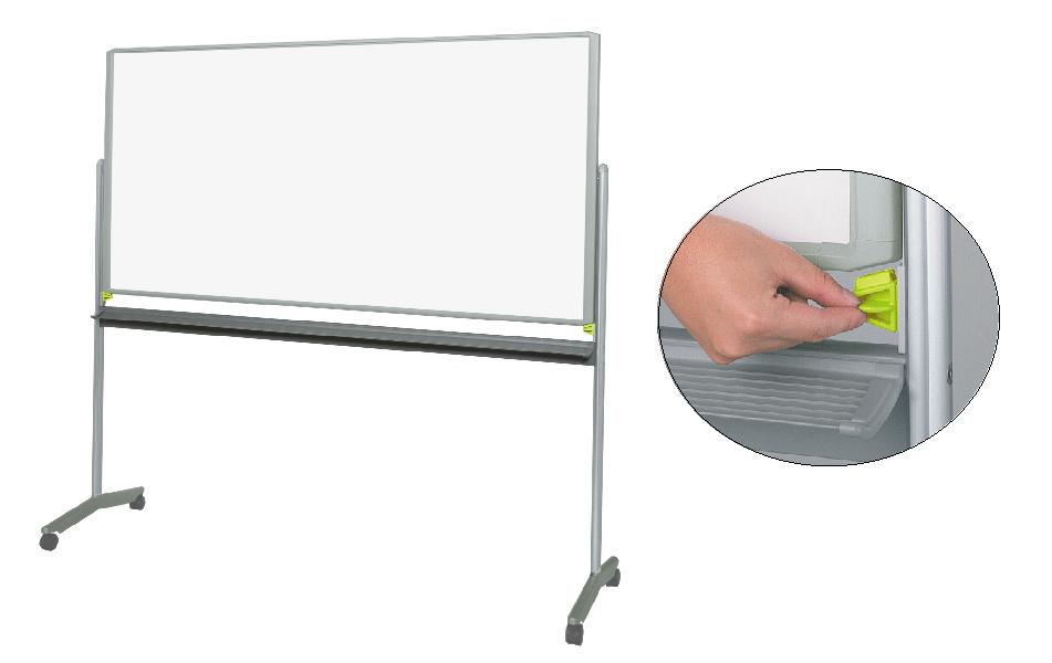 【送料無料】ホワイトボード(脚付)グレスボード(ホワイトボード/映写ボード)GR-131/板面サイズ:1841×920mm