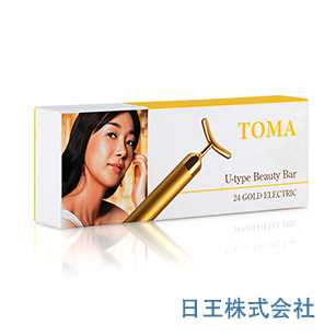 TOMA 24K U型電子美容器 美容棒 美顔器 ゲルマニウム加工