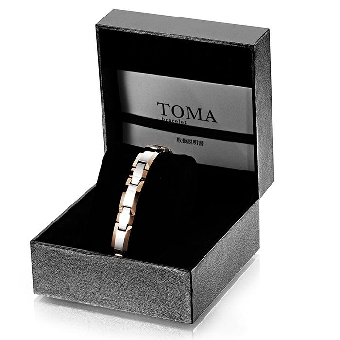 TOMA1M・1F 十字 磁気ブレスレット 二色 男性or女性 ゲルマニウム 保証書付き