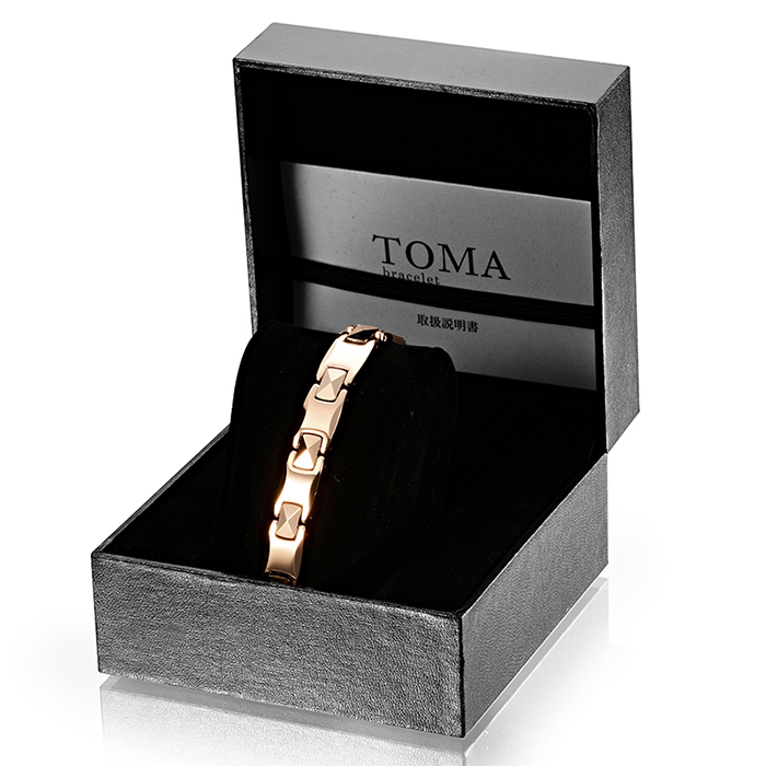 TOMA 3M/3F magnetic germanium pink gold bracelet for men and women