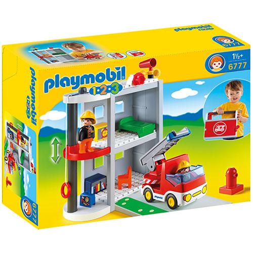 送料無料 プレイモービル 1.2.3 ファイヤーステーション ごっこ遊び 1歳 2歳 3歳 赤ちゃん ベビー 誕生日プレゼント 誕生日 男の子 男 女の子 女 出産祝い   おもちゃ オモチャ 一歳 1歳半 幼児 子供 キッズ ドイツ 人形 フィギュア 知育玩具 playmobil 子ども玩具 こども