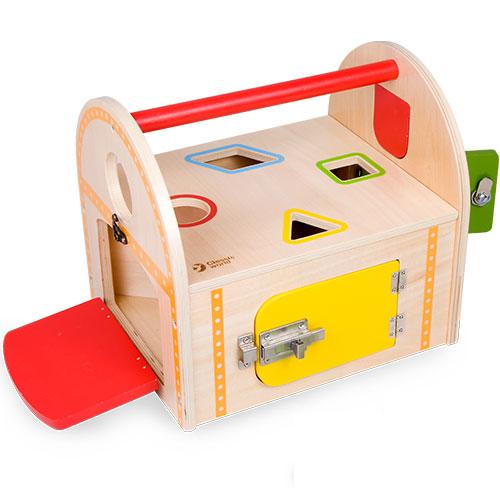 クラシックワールド ロック ボックス 知育玩具 3歳 4歳 誕生日 誕生日プレゼント 木のおもちゃ 木製 知育 赤ちゃん ベビー 男の子 男 女の子 女 出産祝い 木製玩具 玩具 子供 キッズ ギフト 幼児