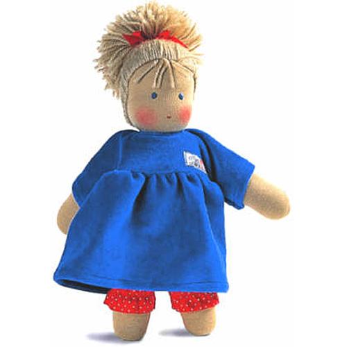 送料無料 抱き人形 おもちゃ シルケ シルケ人形 ロッテちゃん・青 子供 ドイツ 誕生日プレゼント 誕生日 女の子 女 出産祝い 2歳 3歳 4歳 | キッズ 二歳 ギフト 人形あそび お人形 クリスマスプレゼント クリスマス