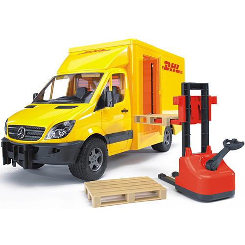 車のおもちゃ 砂場 おもちゃ ダンプカー ブルーダー社 プロシリーズ MB DHL & フォークリフト 子供 ドイツ 誕生日プレゼント 男の子 男 女の子 女 3歳 4歳 5歳 | 三歳 四歳 五歳 誕生祝 のりもの 乗り物 子ども こども ミニカー はたらくくるま オモチャ 玩具