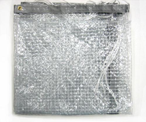 透明糸入りビニール幕1.95mX4.5m