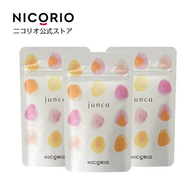 3個セット junca ジュンカ  サプリ 美容 健康 栄養 ヒハツ カシス:NICORIO(ニコリオ)