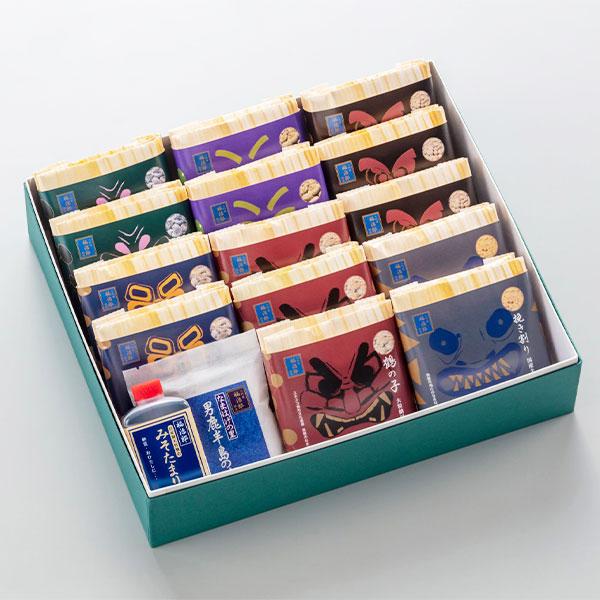 高級納豆 詰合せ 二代目福治郎 送料込 【なまはげ】 高級化粧箱 14個28食 みそたまり 塩付き