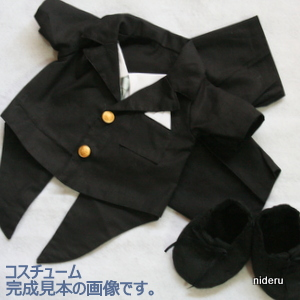 Pattern size S (sat 30 cm waist 42 cm) bear boy costume patterns (tuxedos and shoes)