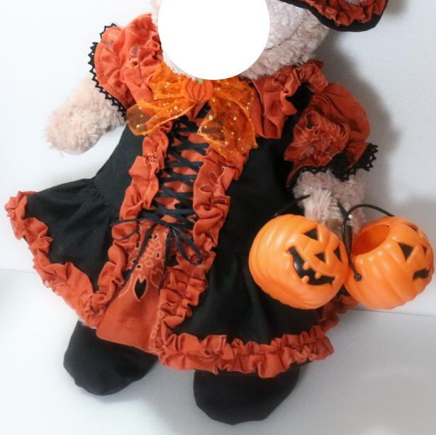 Plush Halloween costume pattern/s size (sat 30 cm waist 42 cm) of the costume pattern