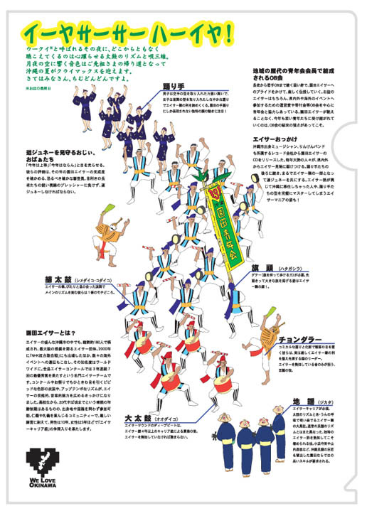 WE LOVE OKINAWA透明文件夹(胭脂红型系列/彩色系列/知识渊博系列/黑白系列)