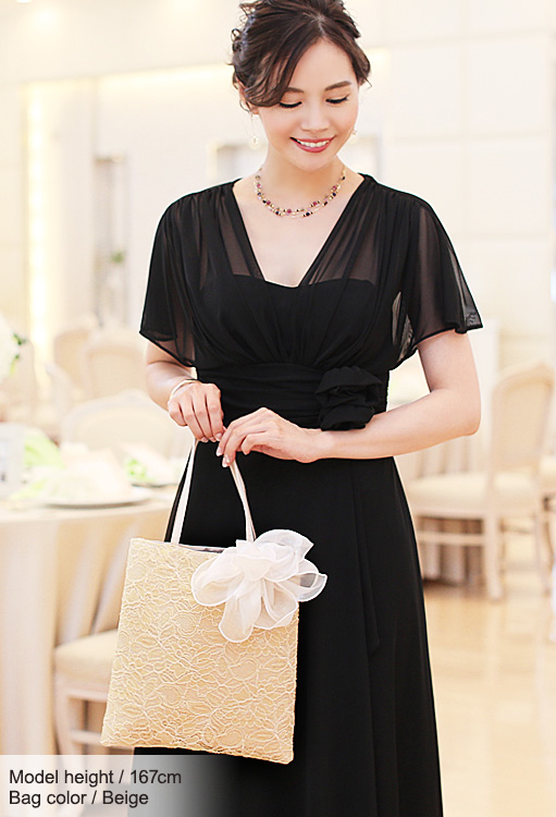 Use party wedding bridesmaid dresses to suit bag corsage + gift bag with putting! Luxury レースパーティーサブ bag-