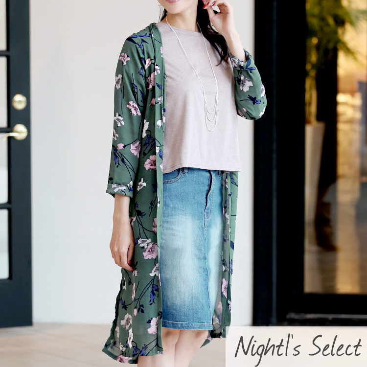 92e031e02e39 DRESS SHOP NIGHT1  The latest khaki navy beige is casual in floral ...