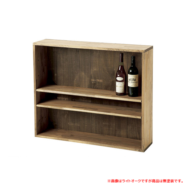 ボトル棚W900 無塗装 #32029 シンプルな木製ワインボトルラック 仕切り付き