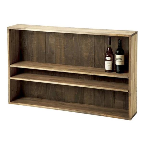 ボトル棚W1200 無塗装 #32031 シンプルな木製ワインボトルラック 仕切り付き