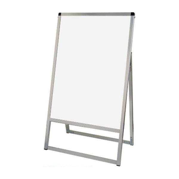 バリウス スタンド 看板 A2 片面 VASKWB-A2K ホワイトボード付きA型看板 個人宅不可 法人配送のみ シルバー