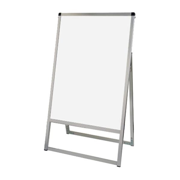 バリウス スタンド 看板 A1 片面 VASKWB-A1K ホワイトボード付きA型看板 個人宅不可 法人配送のみ シルバー