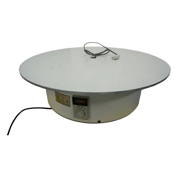 ターンテーブルコンセント有り BTT-700 テーブル上にコンセント付き。電動の物を動かしながら回せる電動式回転テーブル。