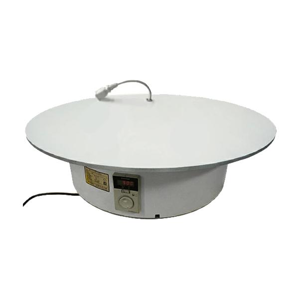 ターンテーブルコンセント有り BTT-1000 テーブル上にコンセント付き。電動の物を稼働中に回せる電動式回転テーブル。