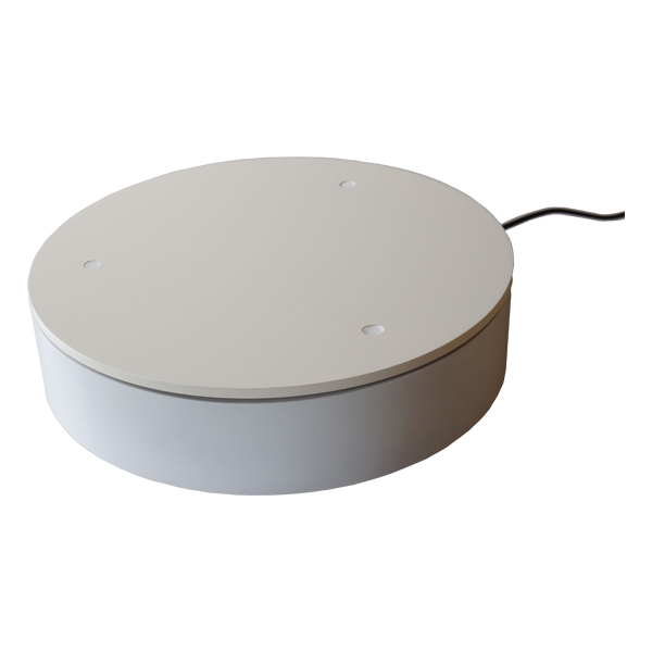 ターンテーブル NS2-420 つい触ってしまってもピタっと止まる安全装置付き電動式回転テーブル。
