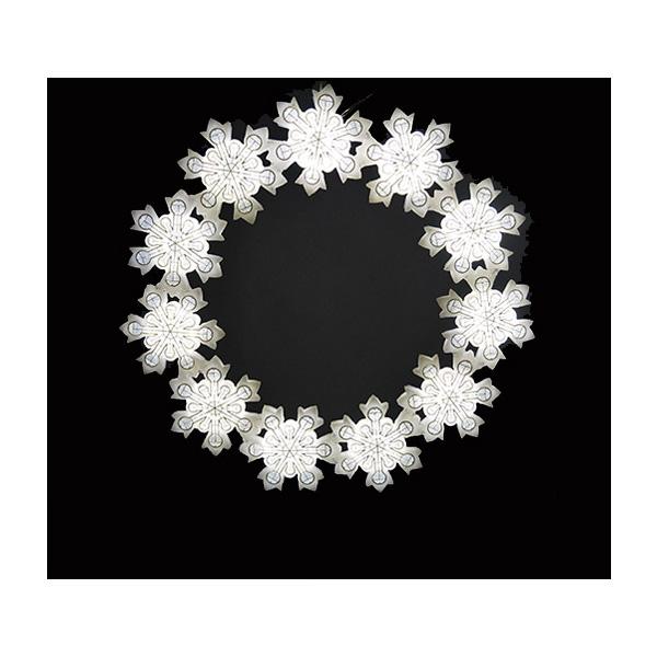 SMALL スノーフレーク7 ホワイト色 イルミネーション 防滴 屋外 低圧