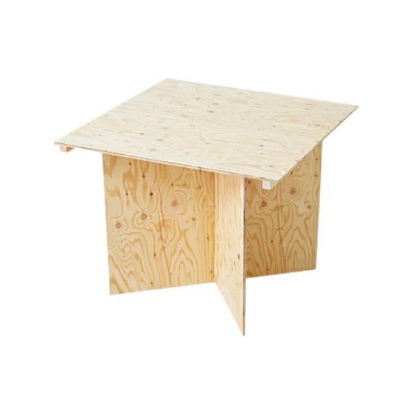 マルシェ組立式テーブル W900 ライトオーク #90071 木製 小物 机 ディスプレイ