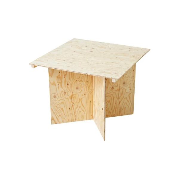 マルシェ組立式テーブル W900 ライトオーク&エイジング #90072 木製 小物 机 ディスプレイ