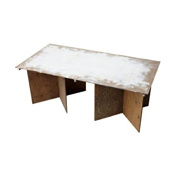 マルシェ組立式テーブル W1800 無塗装品 #90062 木製 小物 机 ディスプレイ