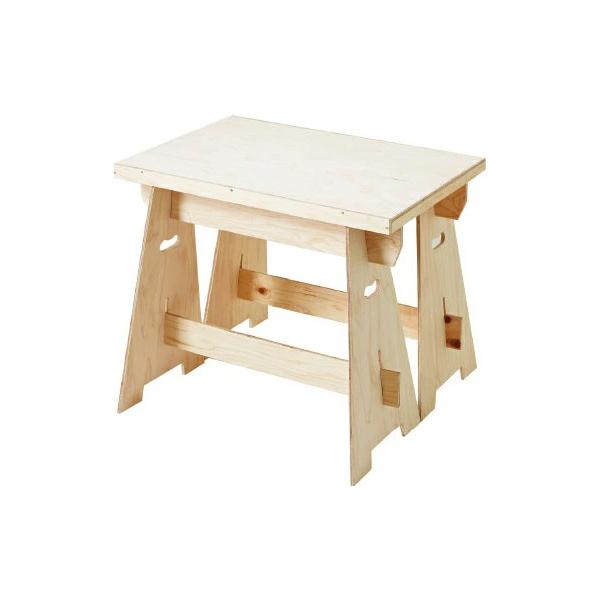 マルシェスタンドKD スタンド2個+天板セット #50193 木製 小物 台 ディスプレイ