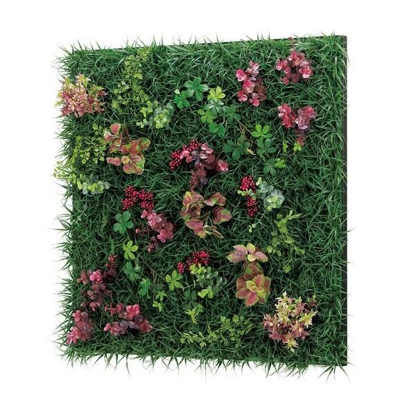 連接グリーン 60角 GR1023 壁面緑化に最適な大きいサイズのフェイクグリーン 壁 直付けタイプ