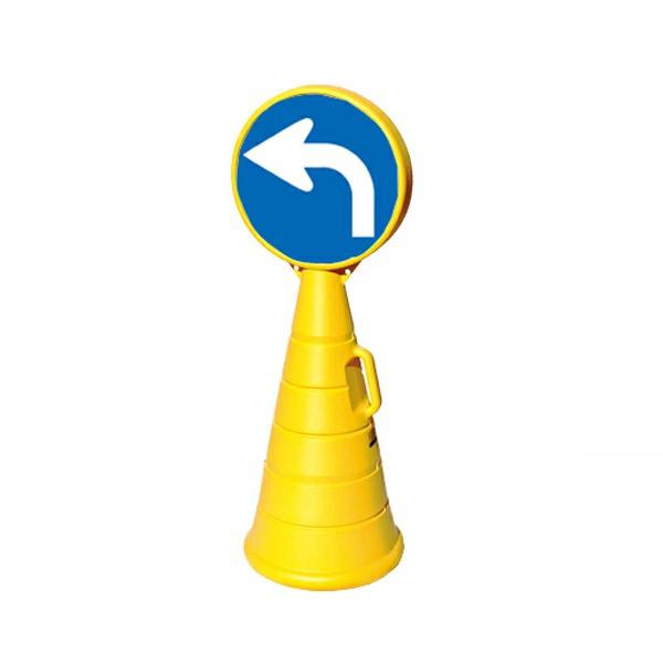 ロードポップサイン本体 レギュラー面板2枚セット 左折 G-5020-Y+R-81(2枚) (選べるカラー)