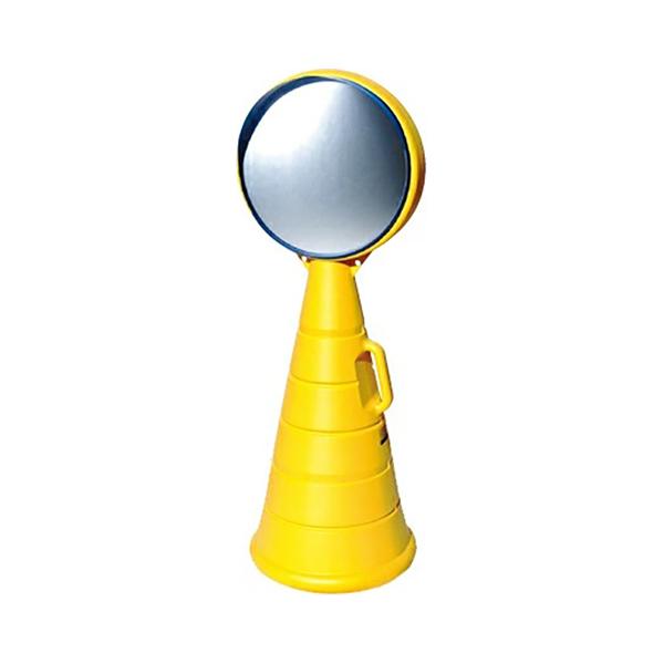 カーブミラーサイン 本体 両面 裏面:無地面板付 G-5021-Y 駐車場に便利な鏡(選べるカラー)