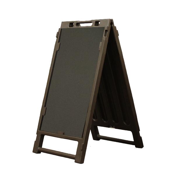 ブロー製折りたたみサイン (ブラックボード片面付) BOA-700B 樹脂製 ブラウン マーカー用 マグネットOK
