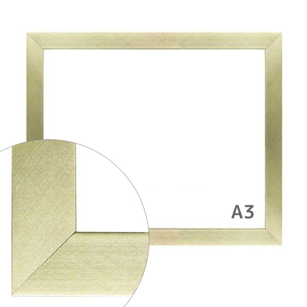 額縁eカスタムセット標準仕様 02-UH1515S 木の本格モールディングを企画サイズで販売 A3銀