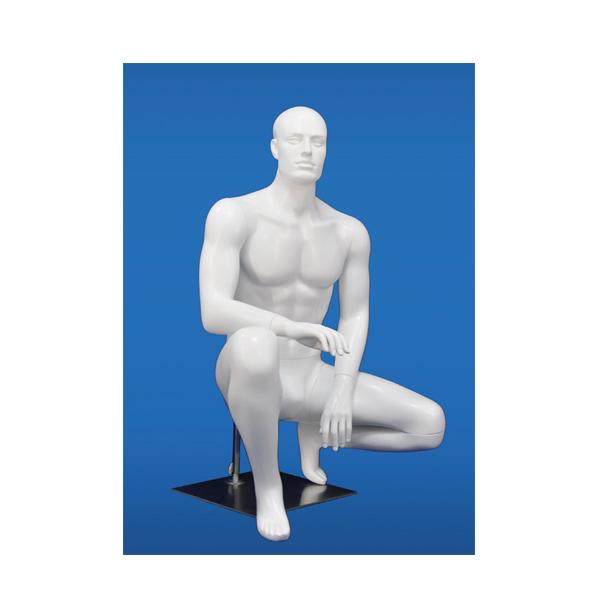 メンズ 座りマネキン ST-M-19 紳士 男性 スポーツウエア用 トルソー 店舗 業務用