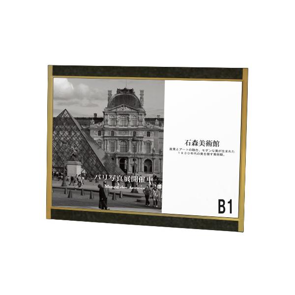 プリンパ オープン パネル B1 ヨコ ゴールド S730 屋内 片面 壁面直付可  (選べるアクセントプレート)
