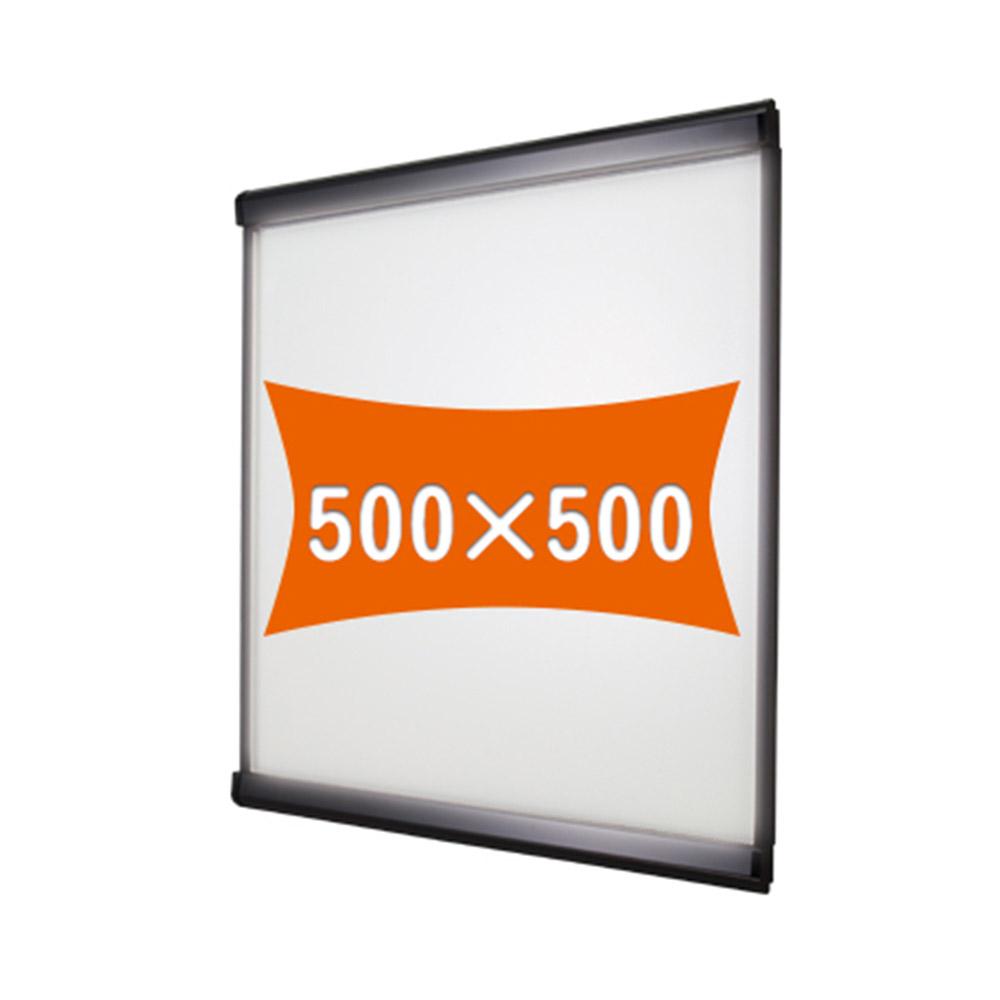 500×500 屋内 通常タイプ LEDスリムツーオープン PG-32R 要法人名 ブラック(艶有)