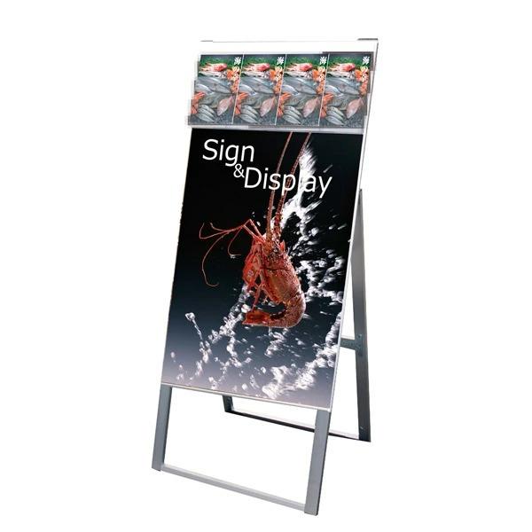 パンフレットケーススタンド看板 DタイプA1片面 PCSKD-A1K 店舗看板 A型看板 ポスタースタンド 個人宅配送不可