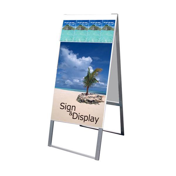 パンフレットケーススタンド看板 DタイプA1両面 PCSKD-A1R 店舗看板 A型看板 ポスタースタンド 個人宅配送不可