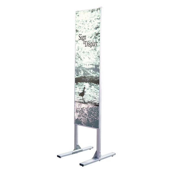 メッセージスタンド ハイタイプ300×1200片面 MS300X1200K 店舗看板 面板差替可 個人宅配送不可