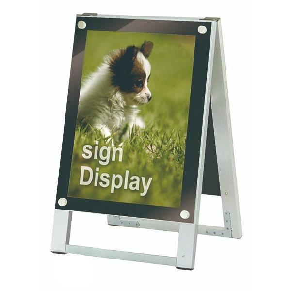 ポスター用スタンド看板 A3縦両面 PSSK-A3TRB ポスタースタンド A型看板 店舗看板 個人宅配送不可 ブラック
