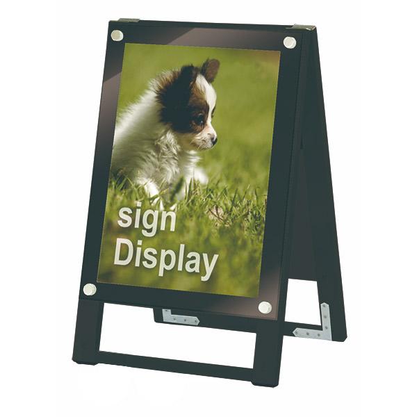 ブラックポスター用スタンド看板 A3縦両面 BPSSK-A3TRB ポスタースタンド A型看板 店舗看板 個人宅配送不可 ブラック