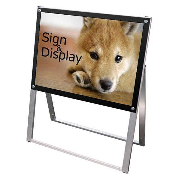 ポスター用スタンド看板 B2横片面 PSSK-B2YKB ポスタースタンド A型看板 店舗看板 個人宅配送不可 ブラック