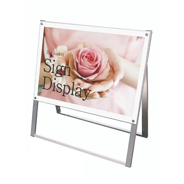 ポスター用スタンド看板 A1横片面 PSSK-A1YKW ポスタースタンド A型看板 店舗看板 個人宅配送不可 ホワイト